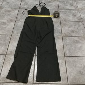 NWT Revamped black open back jumpsuit